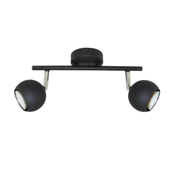 Aplique 2 luces GU10 led negro
